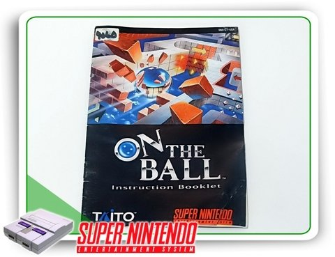Manual On The Ball Original Super Nintendo Snes