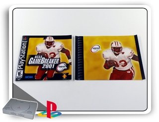 Encarte E Manual Ncaa Game Breaker 2001 Original  Ps1