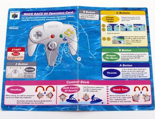 Operation Card Wave Race 64 Original Nintendo 64 N64