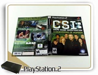 Encarte Csi 3 Dimmensions Original Playstation 2 PS2