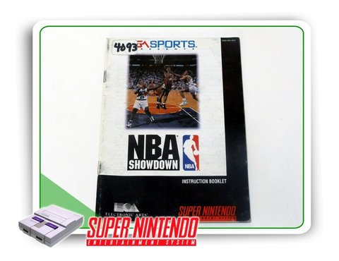 Manual Nba Showdown Original Super Nintendo Snes