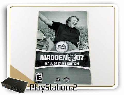 Manual Madden Nfl 07 Hall Of Fame Edition Original PS2
