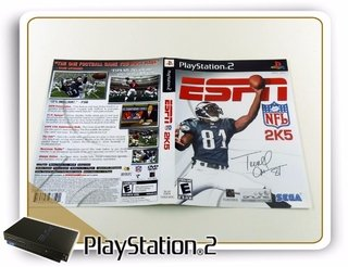 Encarte Espn Nfl 2k5 Original Playstation 2 Ps2
