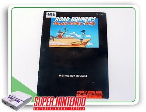 Manual Road Runners Death Valley Original Super Nintendo