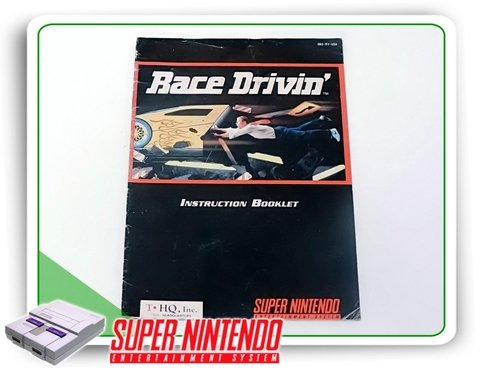Manual Race Drivin Original Snes Super Nintendo