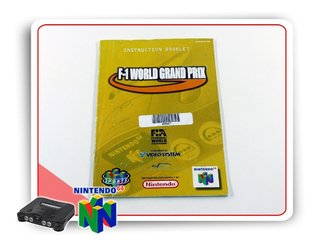 Manual F-1 World Grand Prix Original Nintendo 64 N64