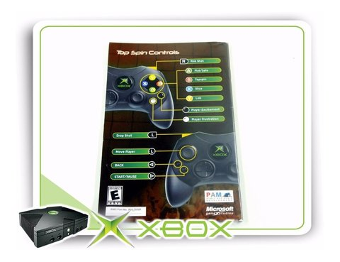 Manual Top Spin Original Xbox Clássico - comprar online