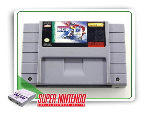 Winter Olympic Games Original Super Nintendo Snes