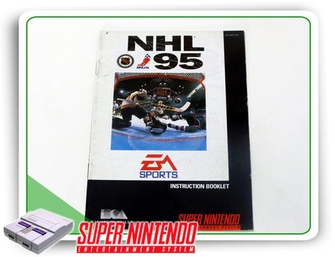 Manual Nhl 95 Original Super Nintendo Snes
