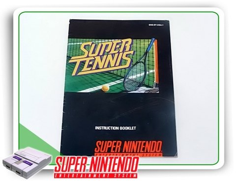 Manual Super Tennis Original Super Nintendo Snes