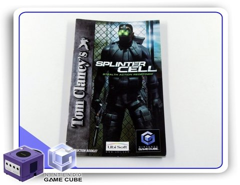 Manual Tom Clancys Splinter Cell Original Nintendo Gamecube