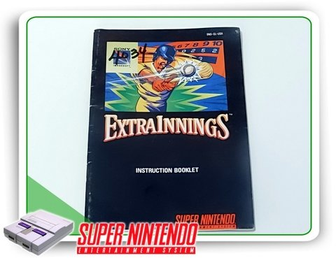 Manual Extra Innings Original Super Nintendo Snes