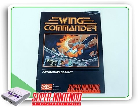 Manual Wing Commander Original Snes Super Nintendo