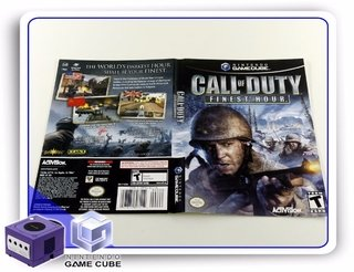 Encarte Call Of Duty Finest Hour Original Gamecube
