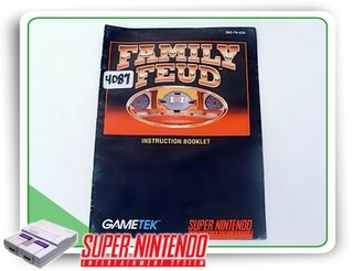Manual Family Feud Original Snes Super Nintendo