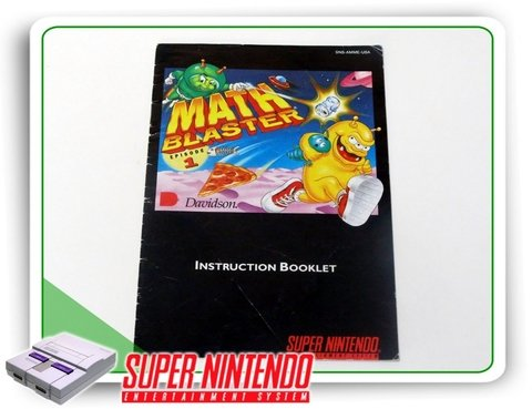 Manual Math Blaster Episode 1 Original Super Nintendo Snes