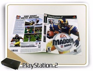 Encarte E Manual Madden Nfl 2003 Original Playstation 2 Ps2