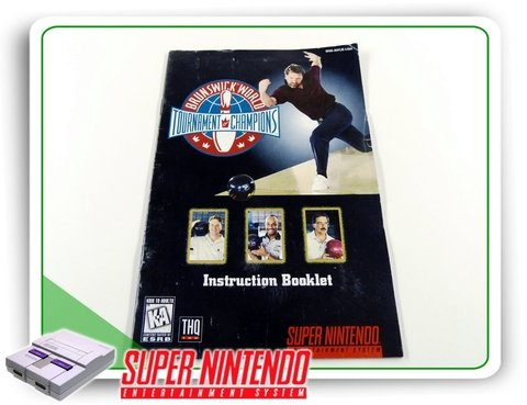 Manual Manual Brunswick World Tournament Original Snes