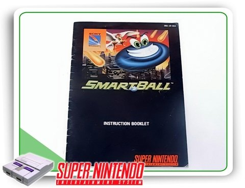 Manual Smartball Original Super Nintendo Snes