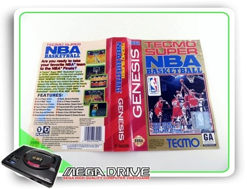 Encarte Tecmo Super Nba Basketball Original Sega Mega Drive