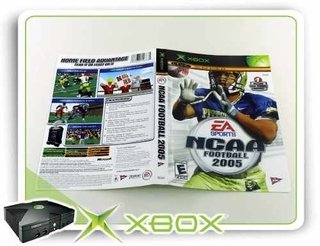 Encarte E Manual Ncaa Football 2005 Xbox Clássico Original