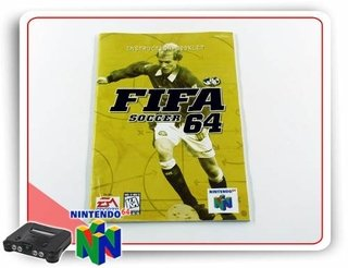 Manual Fifa Soccer 64 Original Nintendo 64 N64