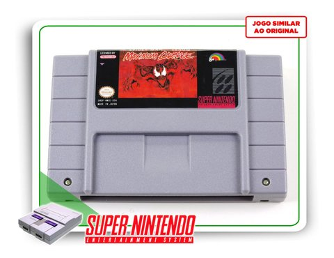 Spider-man & Venom Maximum Carnage Super Nintendo Snes -novo