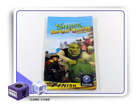 Manual Shrek Smash N Crash Racing Original Gamecube