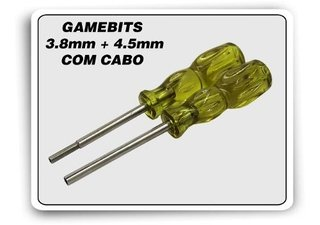 Kit Chaves Gamebit 3.8mm + 4.5mm Com Cabo N64  Snes Mega