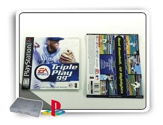 Manual E Encarte Triple Play 99 Original Playstation 1 Ps1