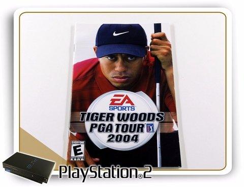 Manual Tiger Woods Pga Tour 2004 Original Playstation 2 PS2