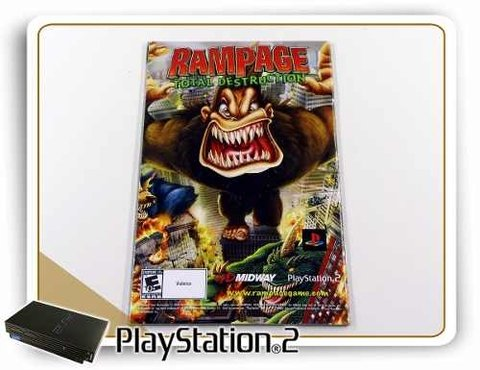 Manual Rampage Total Destruction Original Playstation 2 PS2