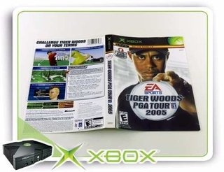 Encarte E Manual Tiger Woods Pga Tour 2005 Xbox Clássico