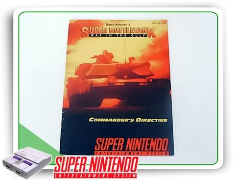 Manual Super Battletank Original Super Nintendo Snes