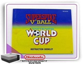 Manual Super Spike V-ball - World Cup Original Nintendinho
