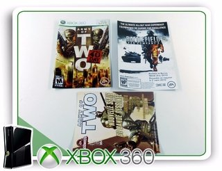 Encarte, Manual E Panfletos Army Of Two Originais Xbox 360