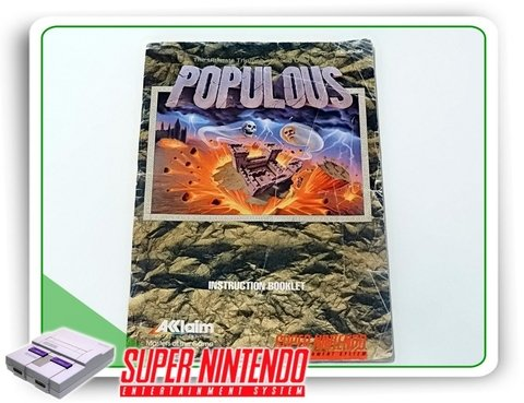 Manual Populous Original Super Nintendo Snes