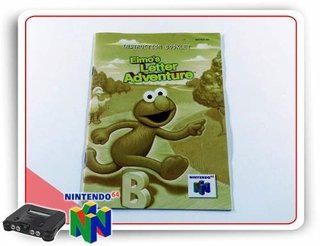 Manual Elmos Letter Adventure Original Nintendo 64 N64