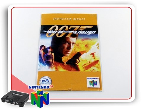 Manual 007 The World Is Not Enough Original Nintendo 64 N64