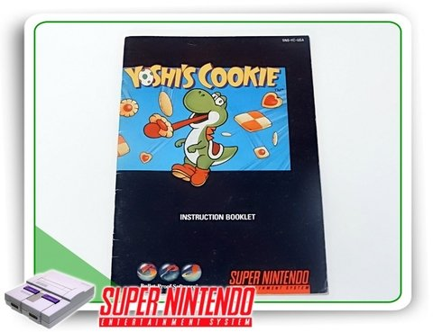 Manual Yoshis Cookie Original Snes Super Nintendo