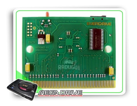 Imagem do Cartucho Everdrive China Version Para Mega Drive + 8gb