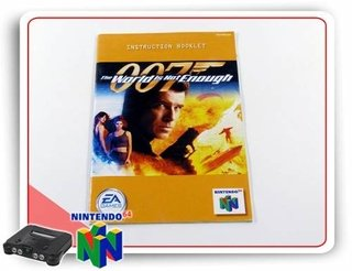 Manual 007 The World Is Not Enough Original N64 Nintendo 64