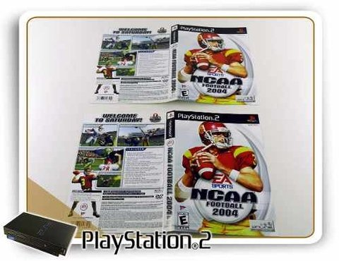 Encarte Ncaa Football 2004 Original Playstation 2 PS2 - comprar online