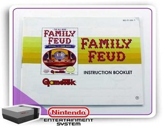Manual Family Feud Original Nintendinho Nes 8-bits