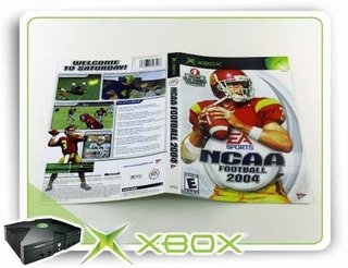 Encarte E Manual Ncaa Football 2004 Xbox Clássico Original