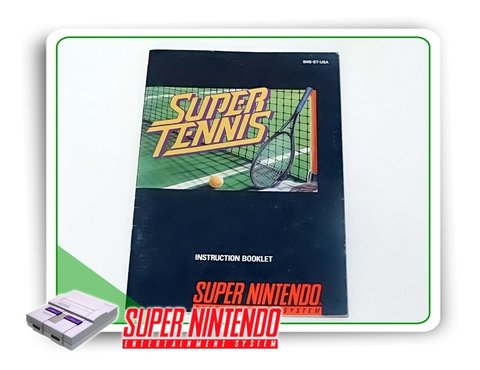 Manual Super Tennis Original Snes Super Nintendo