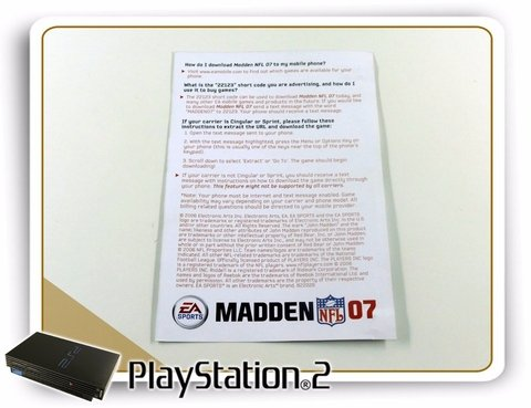 Encarte E Folheto Madden Nfl 07 Original Playstation 2 Ps2 na internet