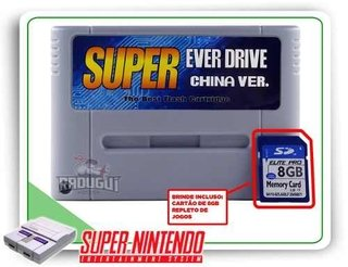 Cartucho Everdrive China Version + 8gb Para Super Nintendo