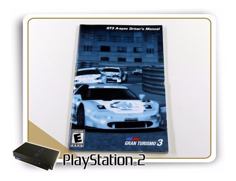 Ps2 Manual Gran Turismo 3 A-spec Original Playstation 2