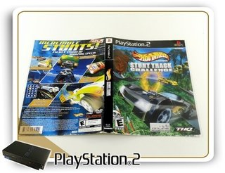 Encarte Hot Wheels Stunt Track Challenge Original Ps2